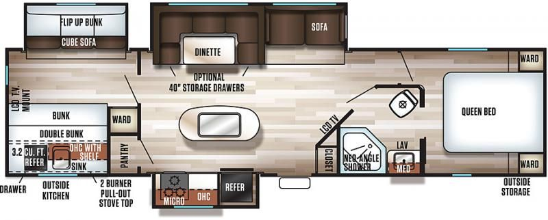 Image Result For Travel Trailer 30 Ft 2 Slides Bunk House Outdoor