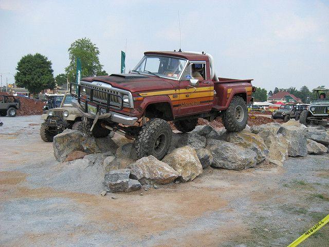 Jeep J 10 Honcho Sportside Pickup Truck On The Rocks Vintage