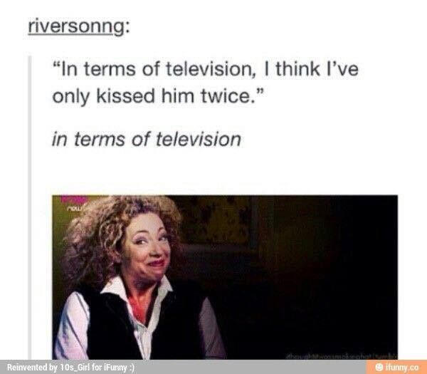 """4 times I think; Day of the Moon, Let's Kill Hitler, Wedding of River Song and Name of the Doctor... but still """"in terms of television"""" hmm ;)"""