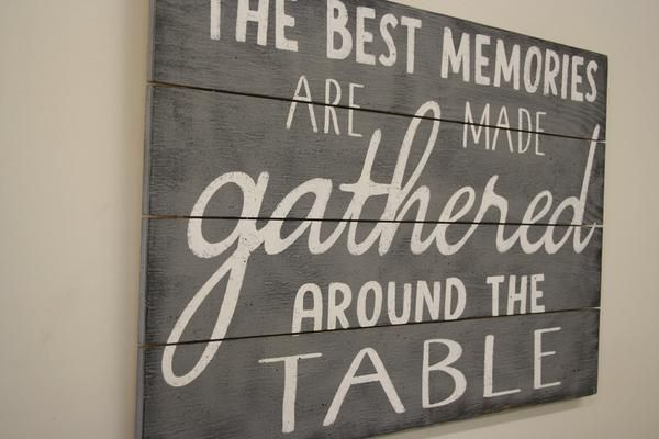 The Best Memories Are Made Gathered Around The Table