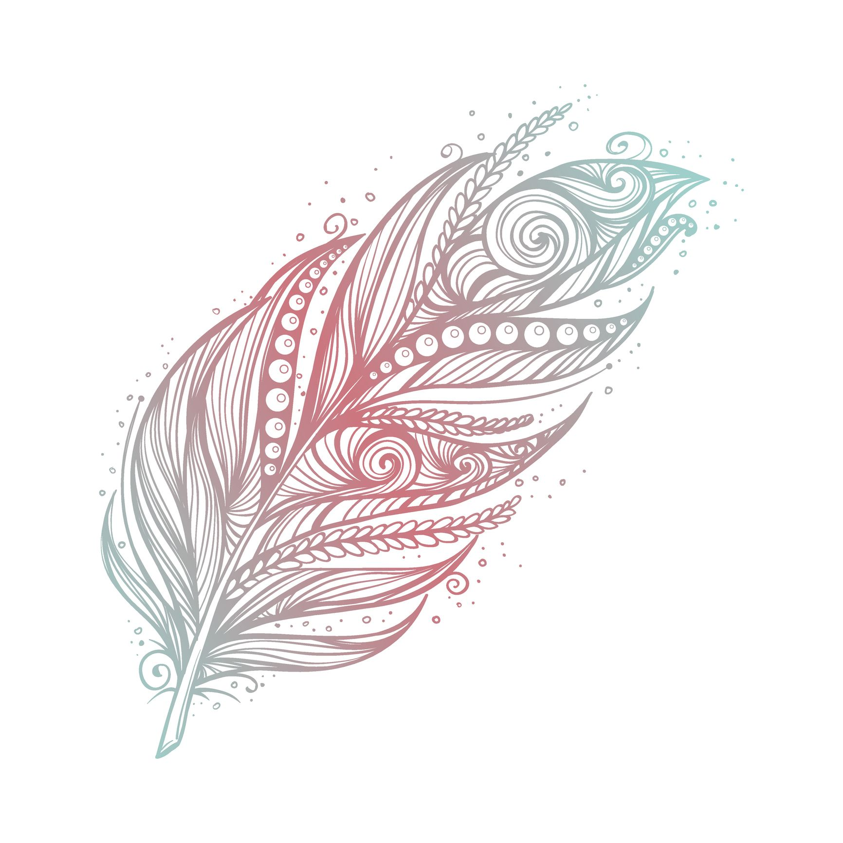 Photo of 17 templates for your feather tattoo desired.de