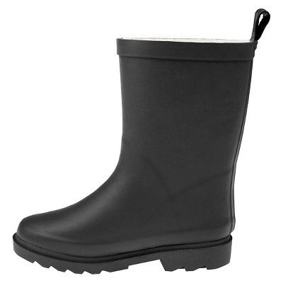Girls' Capelli Kids Fully Fur Lined Rain Boots - Grey 12 - 13, Girl's, Size: 10-11, Gray
