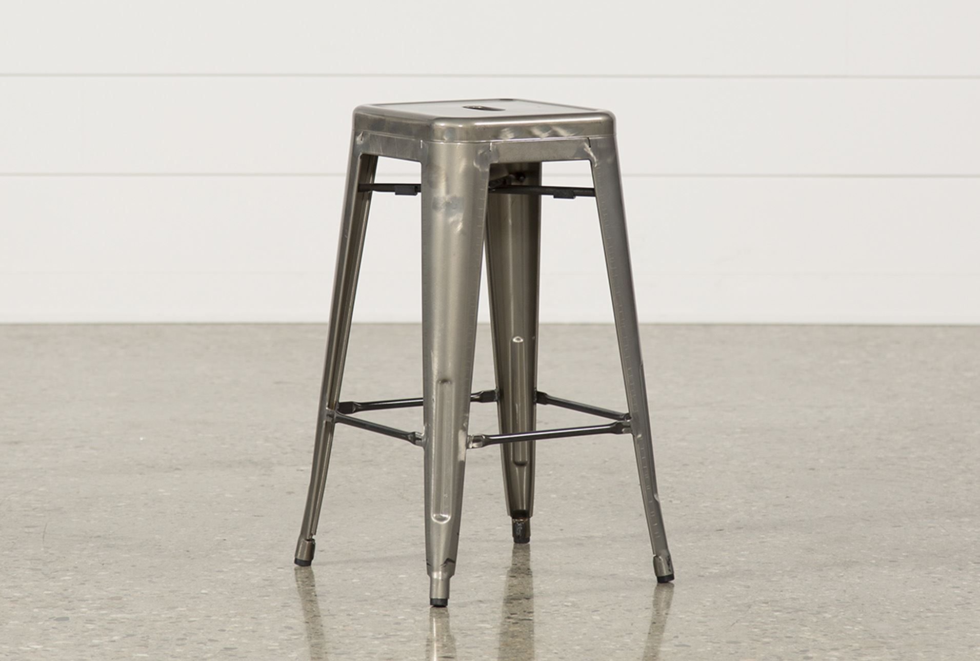Superieur Cooper 26 Inch Metal Backless Stool