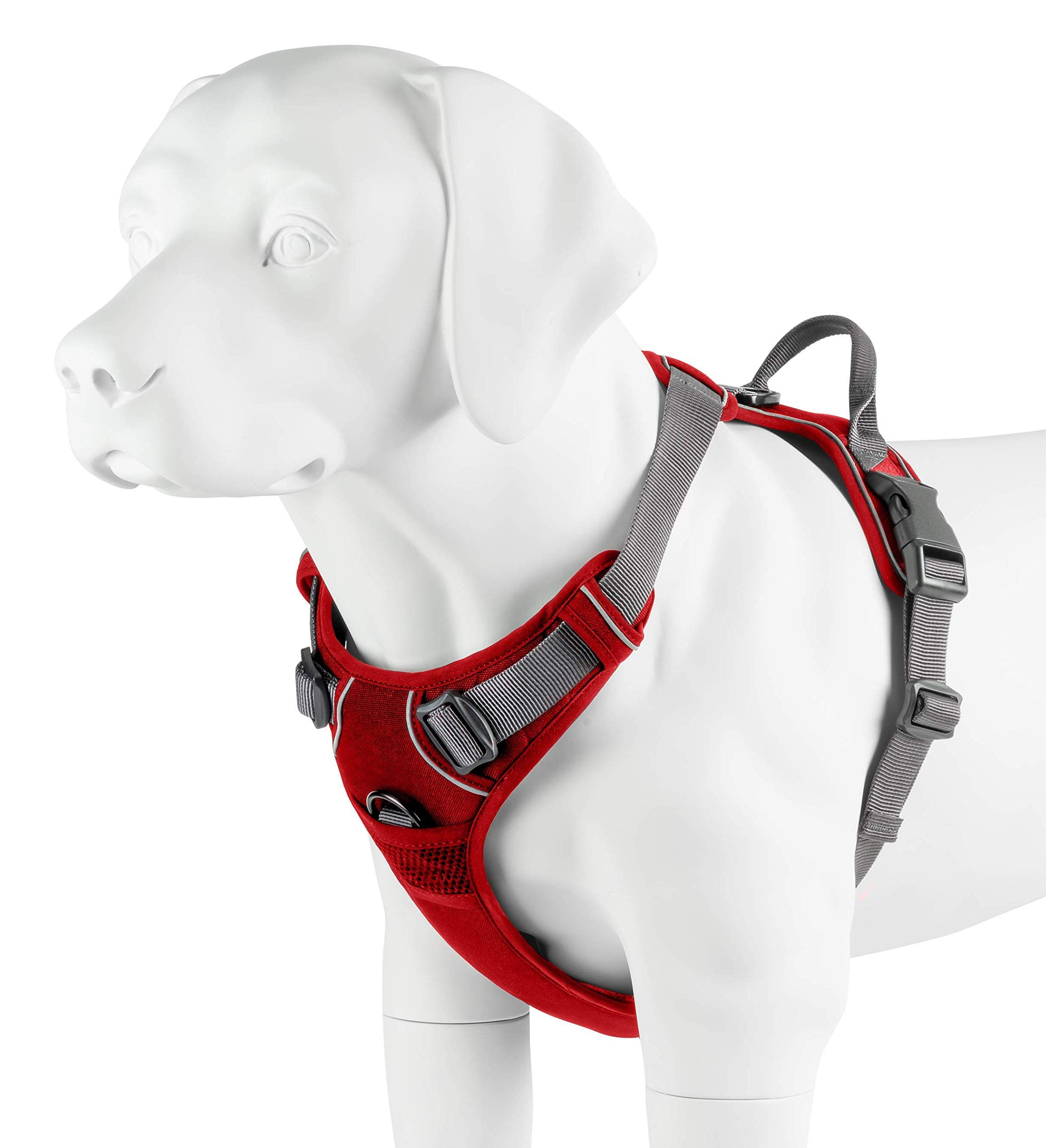 My Busy Dog Harness Vest No Pull Easy On Off Front Back Metal