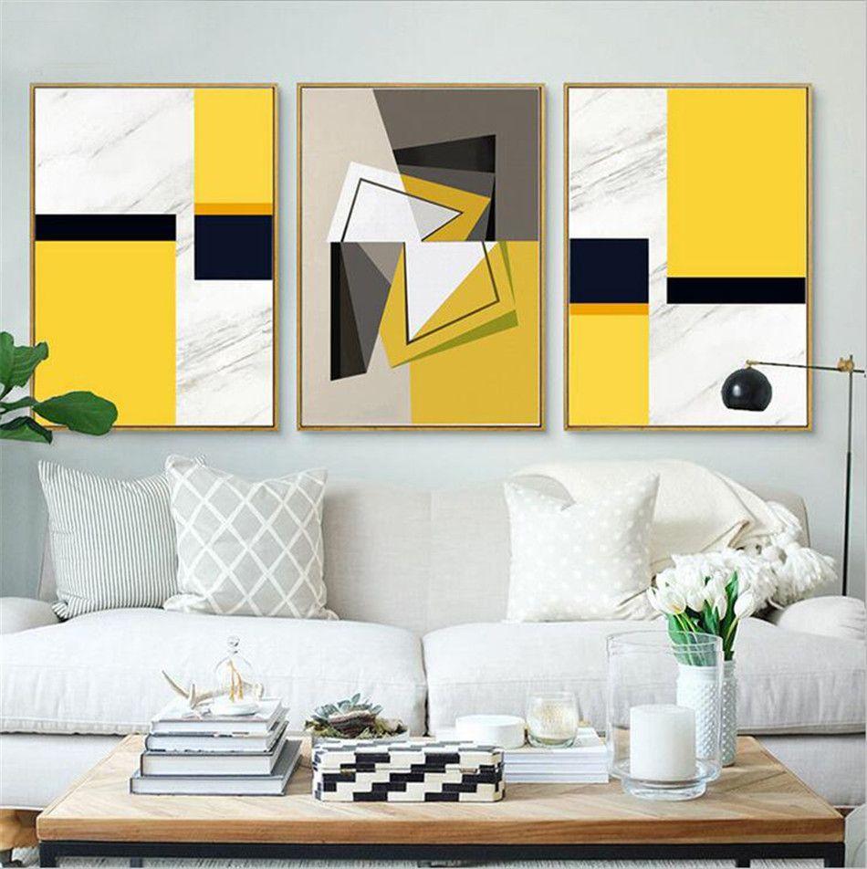 Modern Nordic Minimalist Black White Geometric Shape A4 Large Art ...