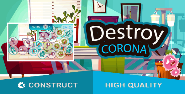 Corona Tile Matching - HTML5 Game (capx) - 1