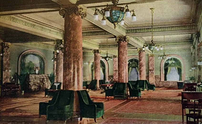 The Grand Salon Of Virginia Hotel In Long Beach Ca 1908 1933