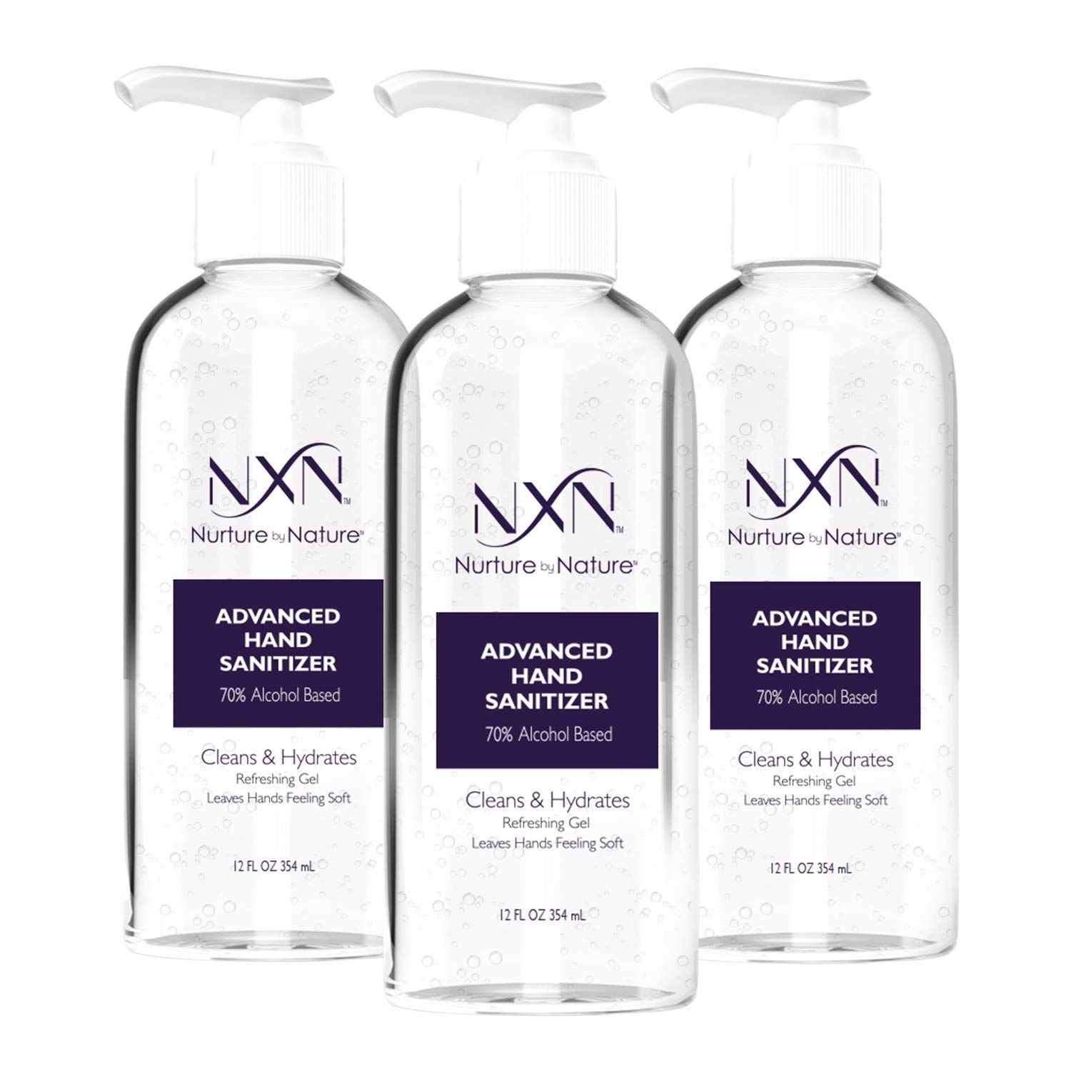 Nxn Beauty Advanced Hand Sanitizer Refreshing Gel With 70 Alcohol 12 Oz 354ml Each Pack Of 3 In 2020 Hand Sanitizer Gel Alcohol