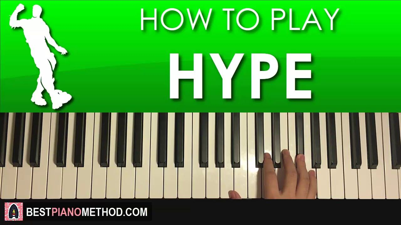 how to play fortnite dance hype piano tutorial lesson - fortnite music notes tutorial