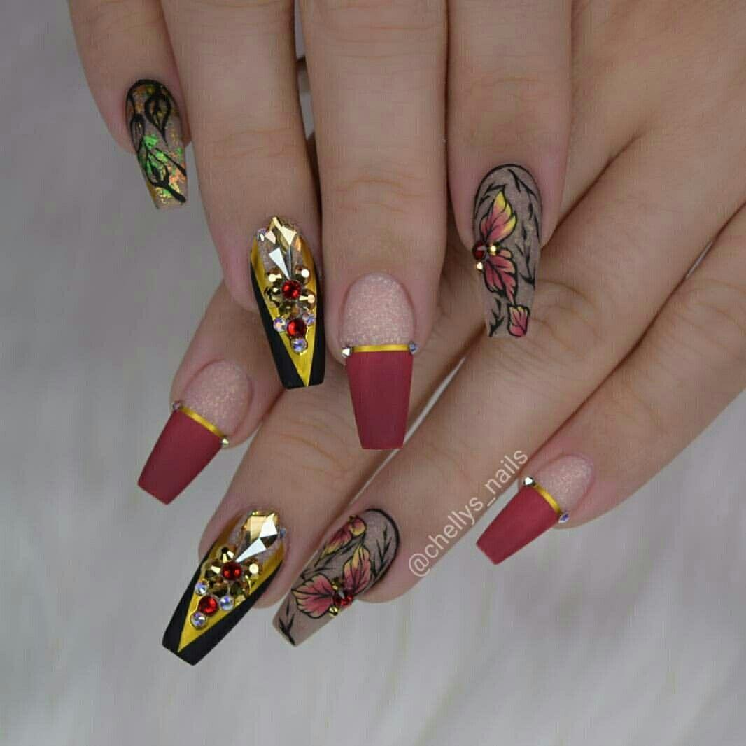 Pinterest @IIIannaIII | Uñas decoradas acrilicas, Arte de ...