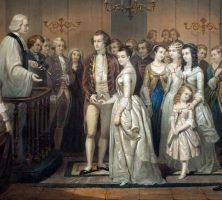 George & Martha Dandridge Custis Washington's Marriage: January 6th, 1759 via @VisitMtVernon