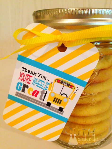 Free Printables: School Bus Driver Appreciation #eceappreciationgiftideas