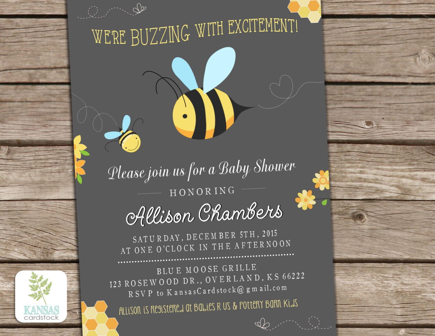 Bee Baby Shower Invitation, Mom to Bee, Baby Shower invite, Bumble ...