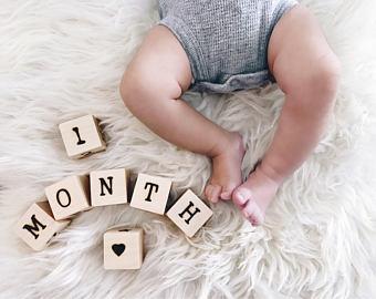Baby Blocks Etsy Wood Baby Blocks Baby Blocks Baby Age Blocks