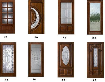 Half Moon Glass Front Door Brown Front Doors Contemporary Front Doors Stained Front Door