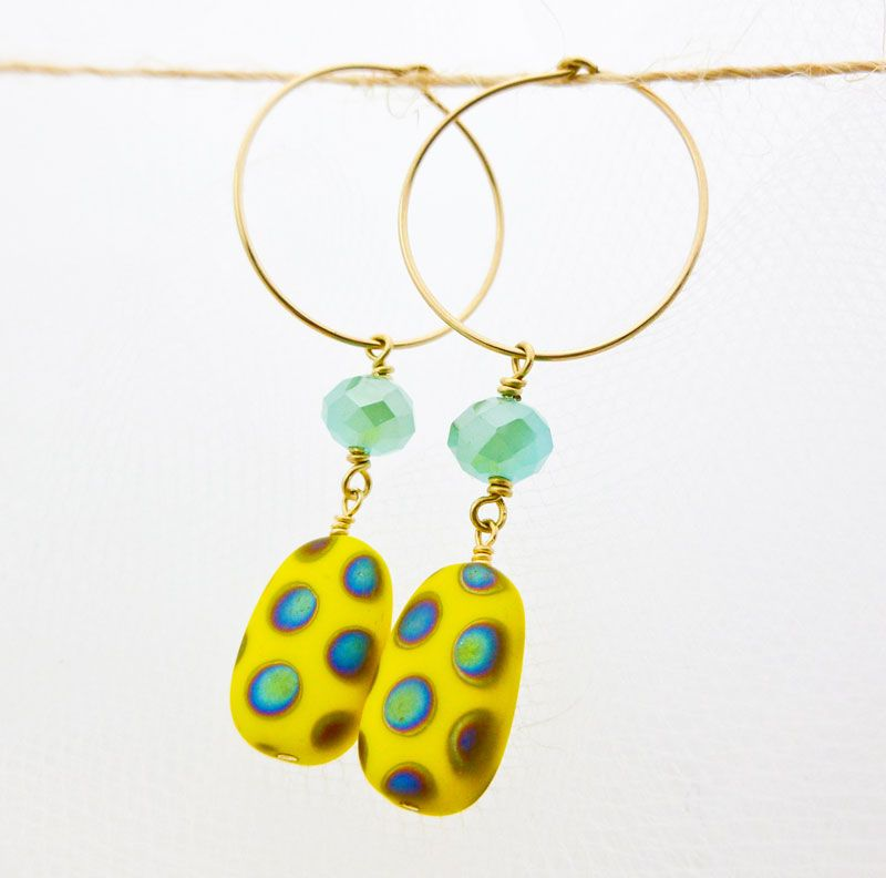 ✓ What\'s Hot Today: Bright and Fun Polka Dot Earrings by ...