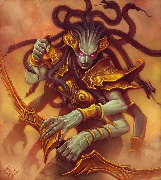 Warcraft Fan Art Gallery Lady Vashj Multi Armed In 2019 World