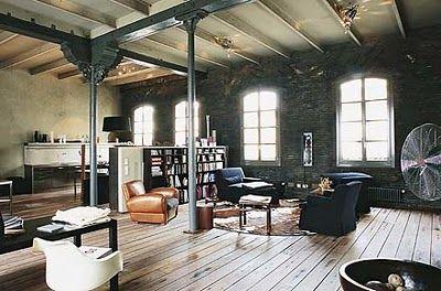 Wohnen   Wohnzimmer · InnenarchitekturIndustrieller StilLoft ...