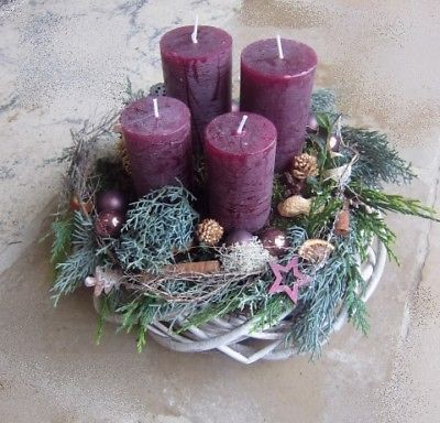 Table Decorations Christmas Candles Diy Christmas Centerpiece Christmas Crafts Christmas Decor Diy Christma Willow Wreath Christmas Wreaths Purple Candles