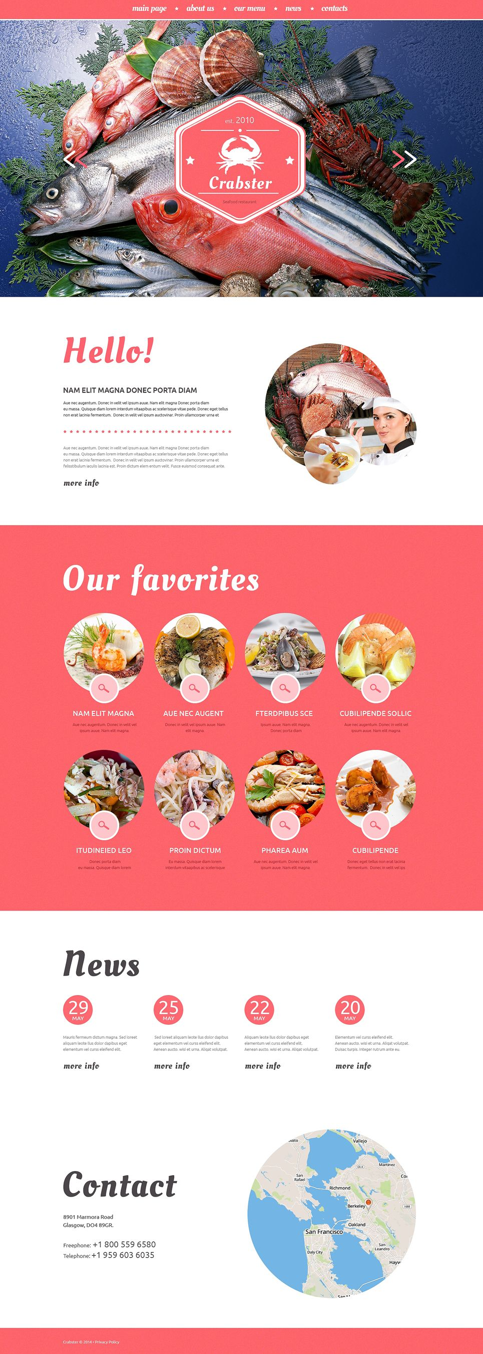 seafood restaurant website template restaurant seafood template