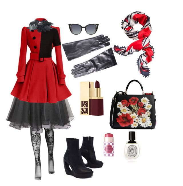 """""""Kiss by the Hotel Deville"""" by nudespoonseuphoria on Polyvore featuring Vivienne Westwood, Relaxfeel, Yves Saint Laurent, Ann Demeulemeester, Fendi, Tory Burch, Ted Baker, Dolce&Gabbana, tarte and Diptyque"""