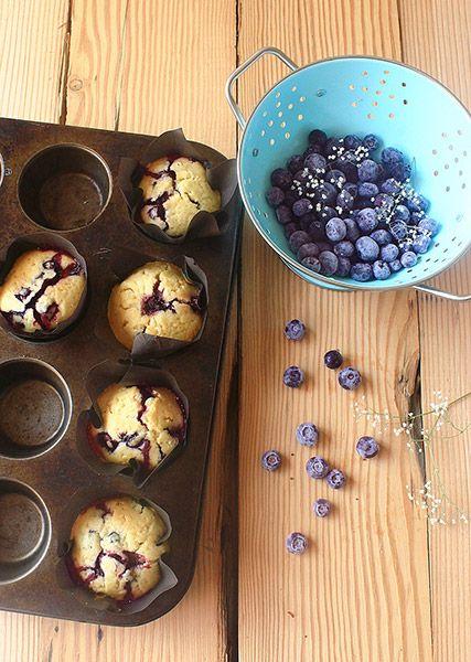 Blueberry muffins/ Muffins de arándanos