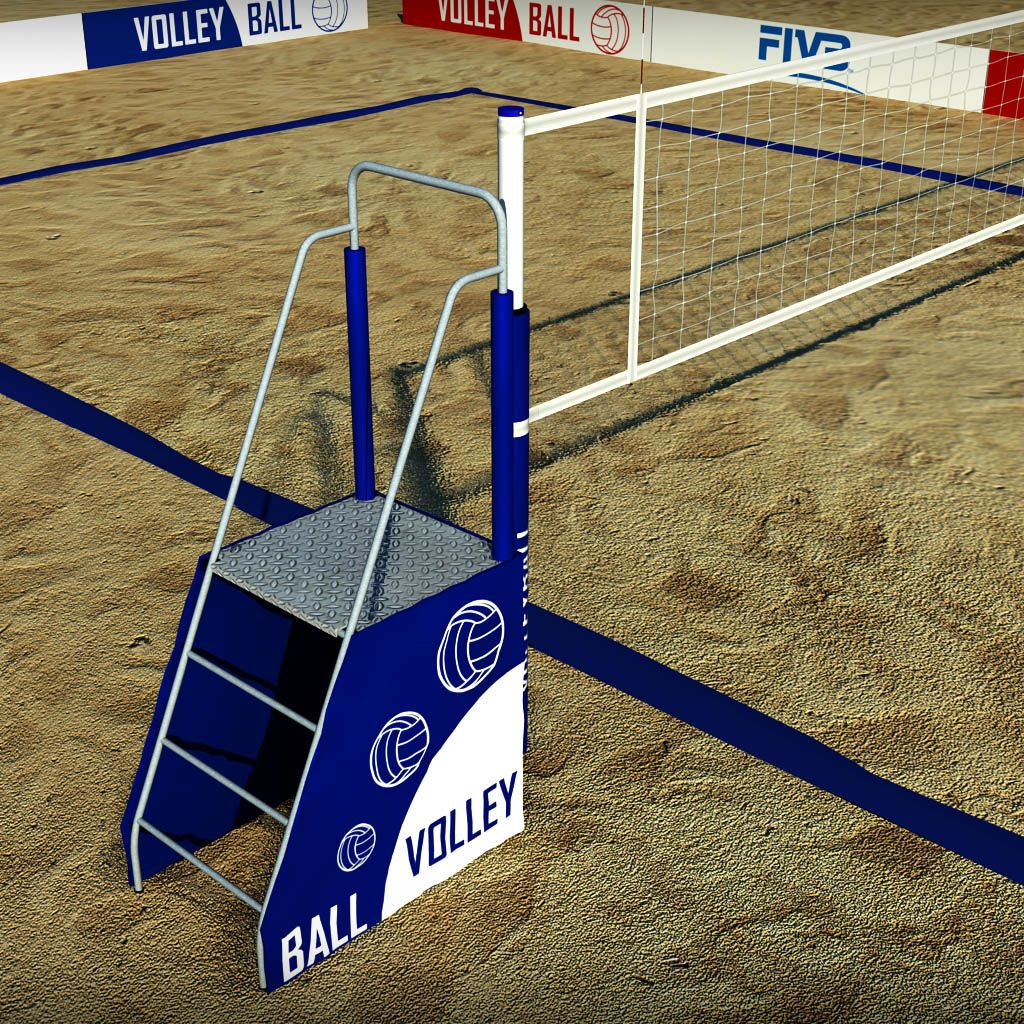 Beach Volleyball Court Low Poly Beach Volleyball Court Sand Volleyball Court Beach Volleyball