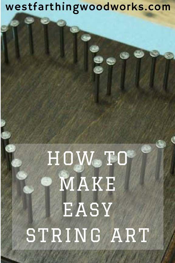 How to Make String Art #stringart