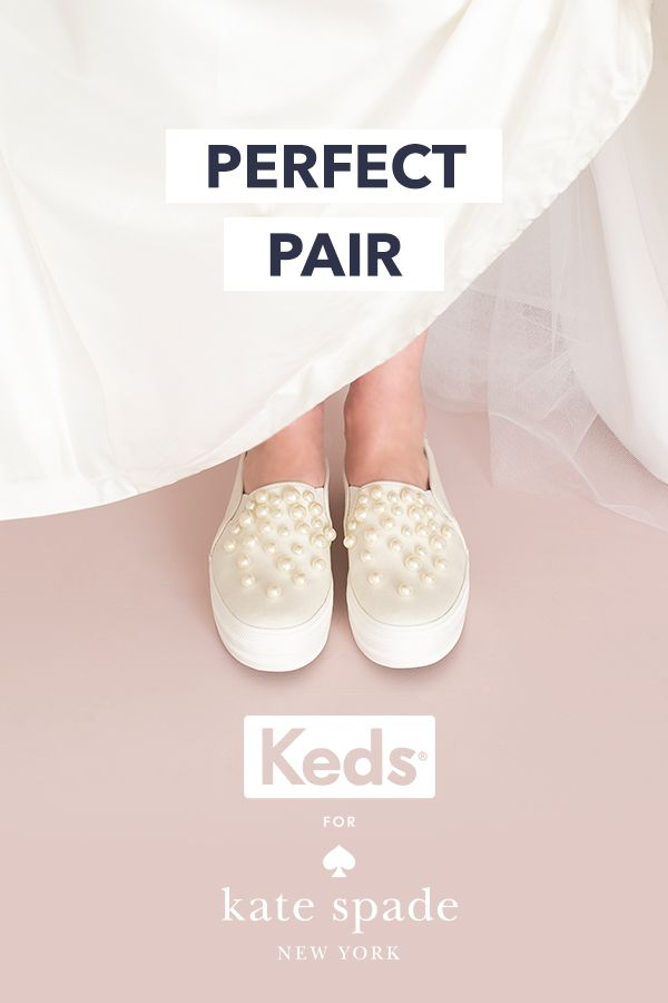 a79b0a2652a3 Keds and kate spade new york have teamed up to create a line of wedding  sneakers like you ve never seen before. But you don …