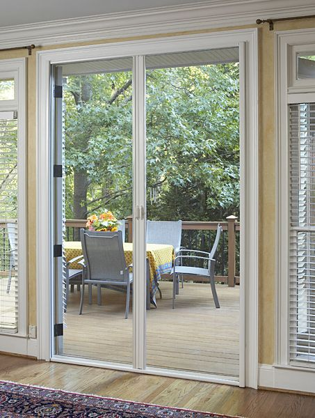 Outward opening french doors with retractable screens for Retractable fly screens french doors