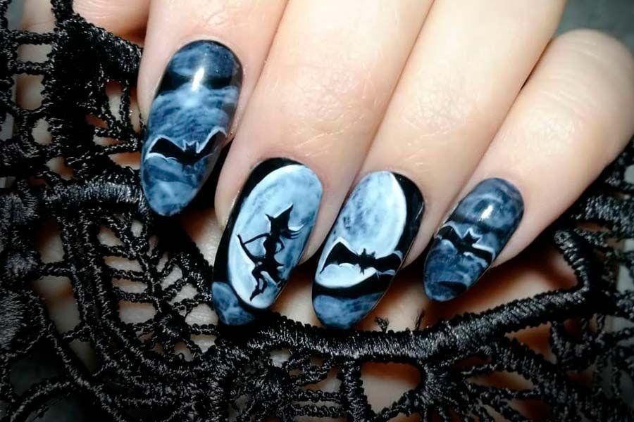 41 Cute And Creepy Halloween Nail Designs 2020 | Halloween ...