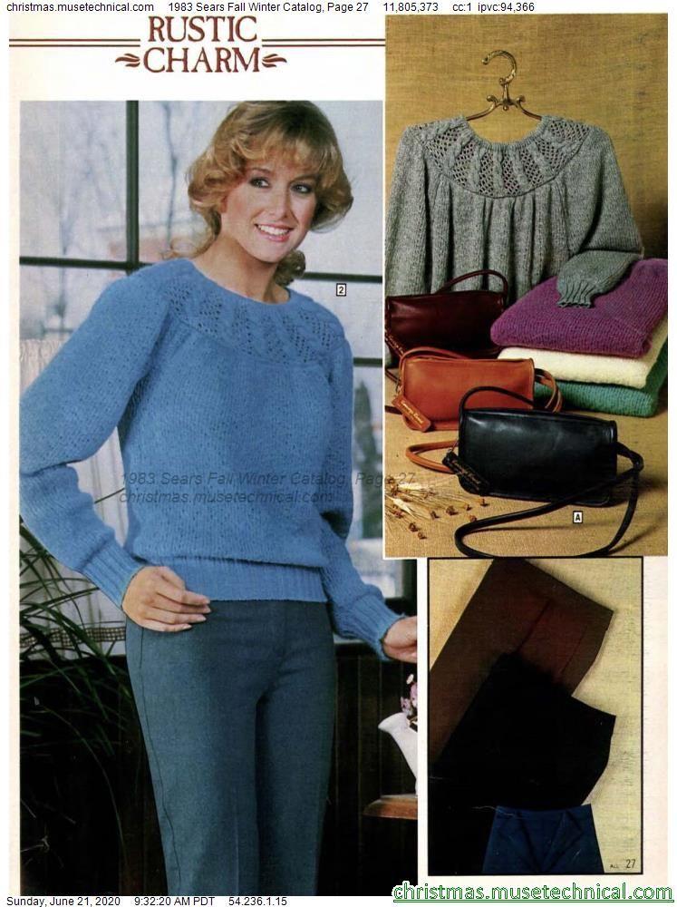 1983 Sears Fall Winter Catalog, Page 27 - Christma
