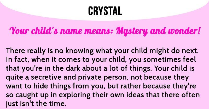 What Does Your Childs Name Mean Crystal Pinterest Crystals