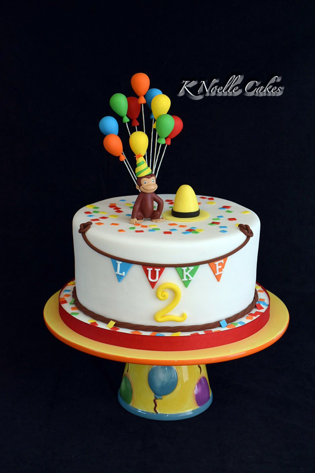 Curious George Theme Cake By K Noelle Cakes Birthday