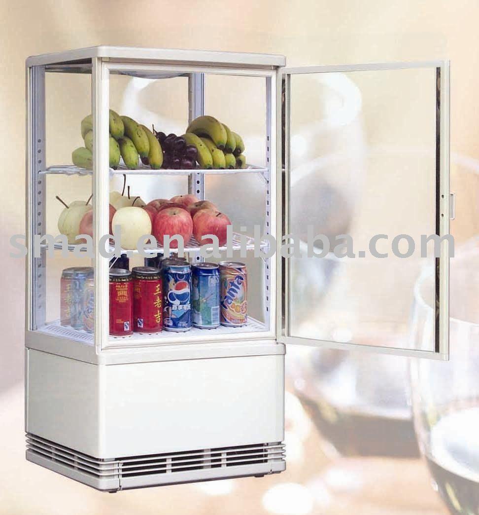 Four Sides Transparent Refrigerator Glass Door Refrigerator Showcase