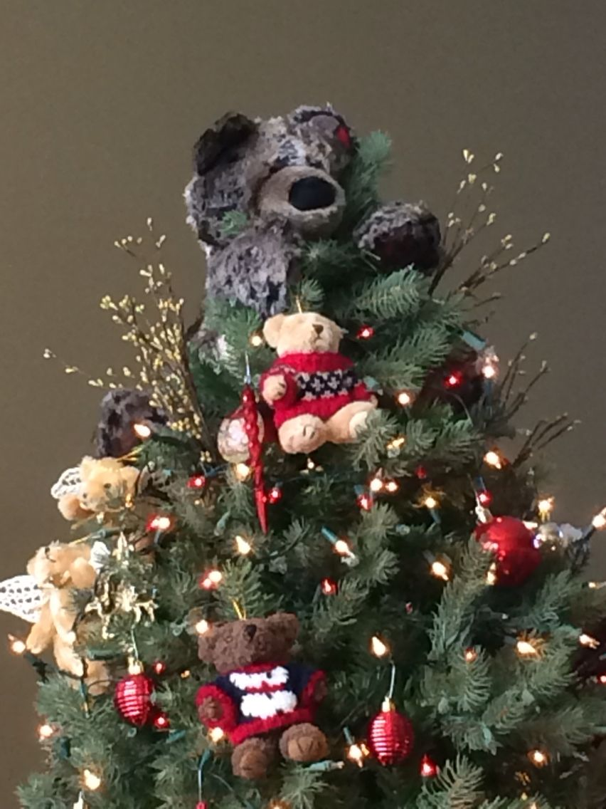 Teddy Bear Tree Topper Christmas Tree Design Tree Toppers Christmas Tree