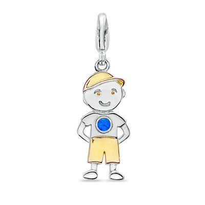 pendant children gold vintage yellow charm i little diamond boy