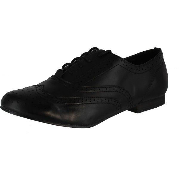 Breckelles Women Oxford-99 Flats (€31) ❤ liked on Polyvore featuring shoes, oxfords, party shoes, flat shoes, wedge oxford shoes, wedges shoes and flat oxford shoes