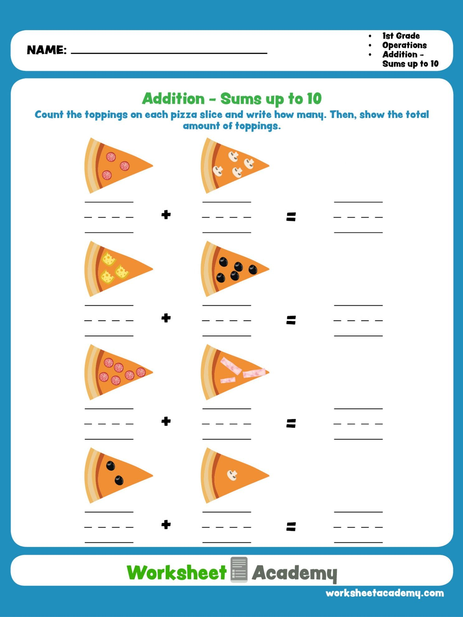 Help Your Student Practice Beginning Addition With This