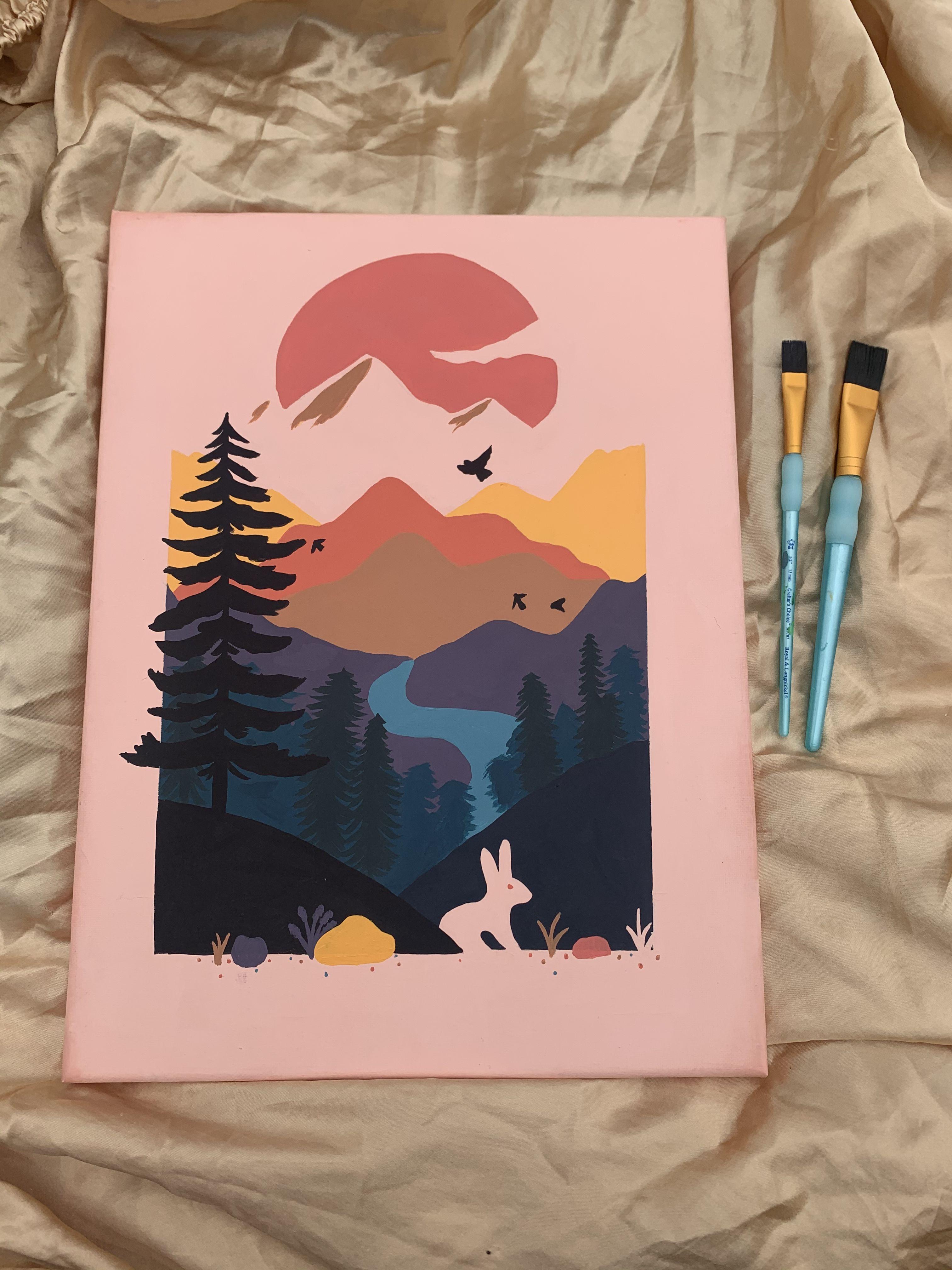100 Acrylic painting ideas in 2021 | sky aesthetic