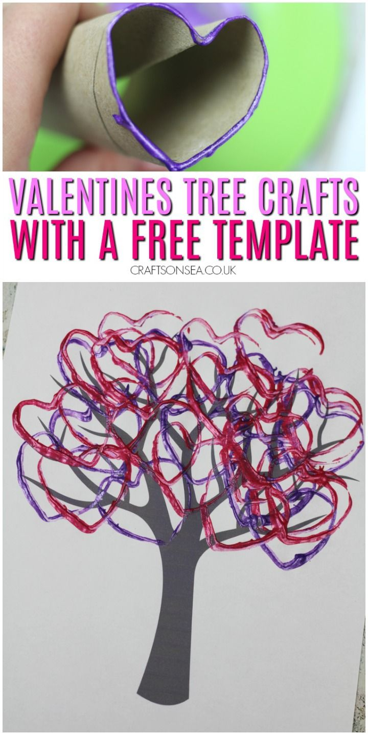 Photo of Valentines Tree Crafts for Kids with a Free Template