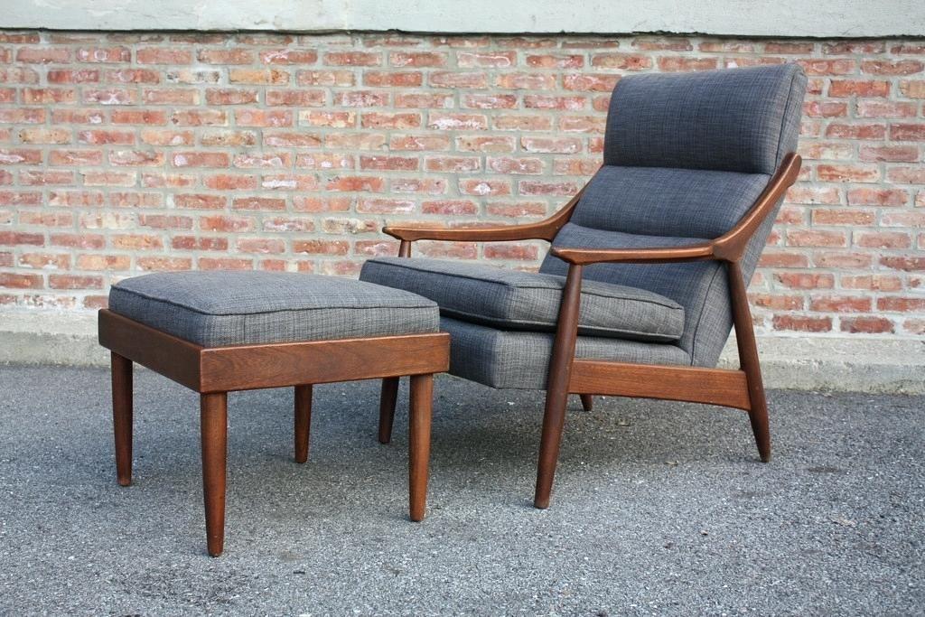 Brilliant Mid Century Ottoman Perfect Mid Century Modern Lounge Chair Inzonedesignstudio Interior Chair Design Inzonedesignstudiocom