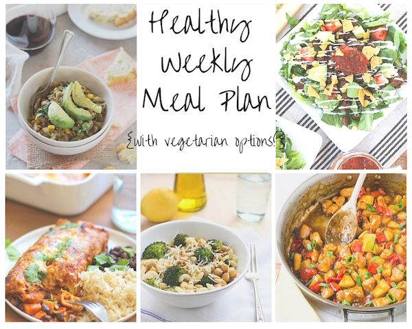 Healthy Weekly Meal Plan Collage 10.10 w veg options