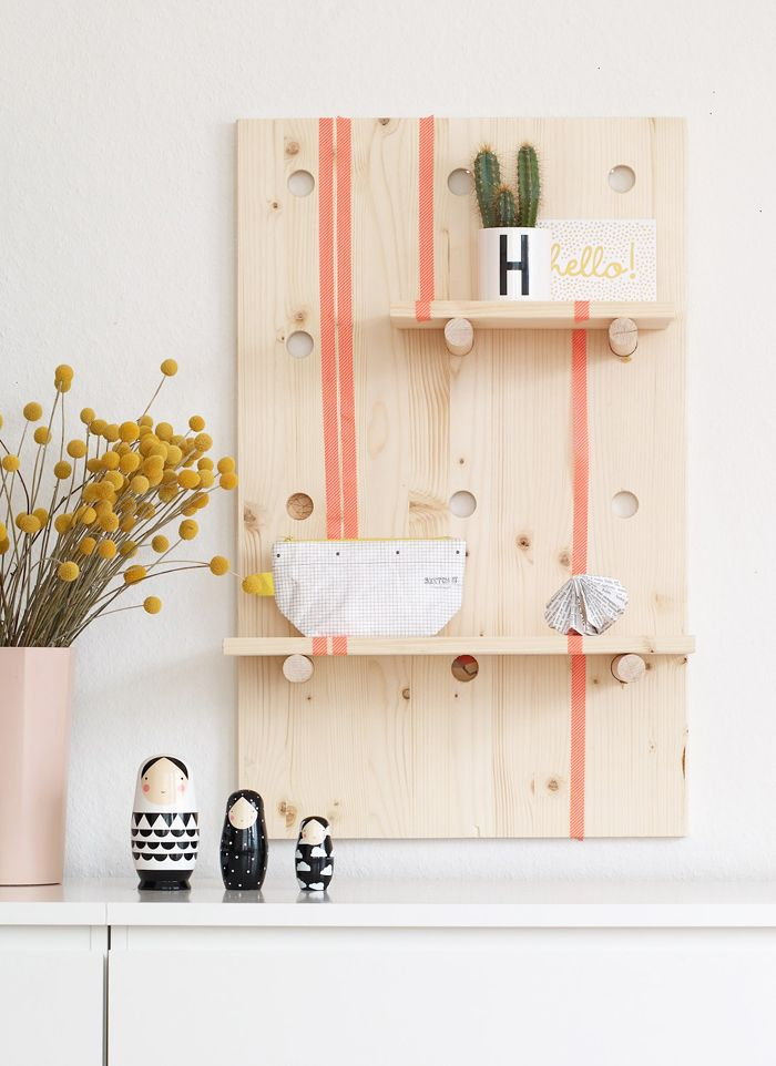 Diy Pegboard Headboard Allows For Customizable Over The Bed