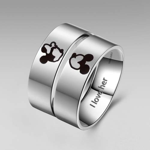 Explore Rings Promise Ringore Anium Steel Kissing Mickey And Minnie