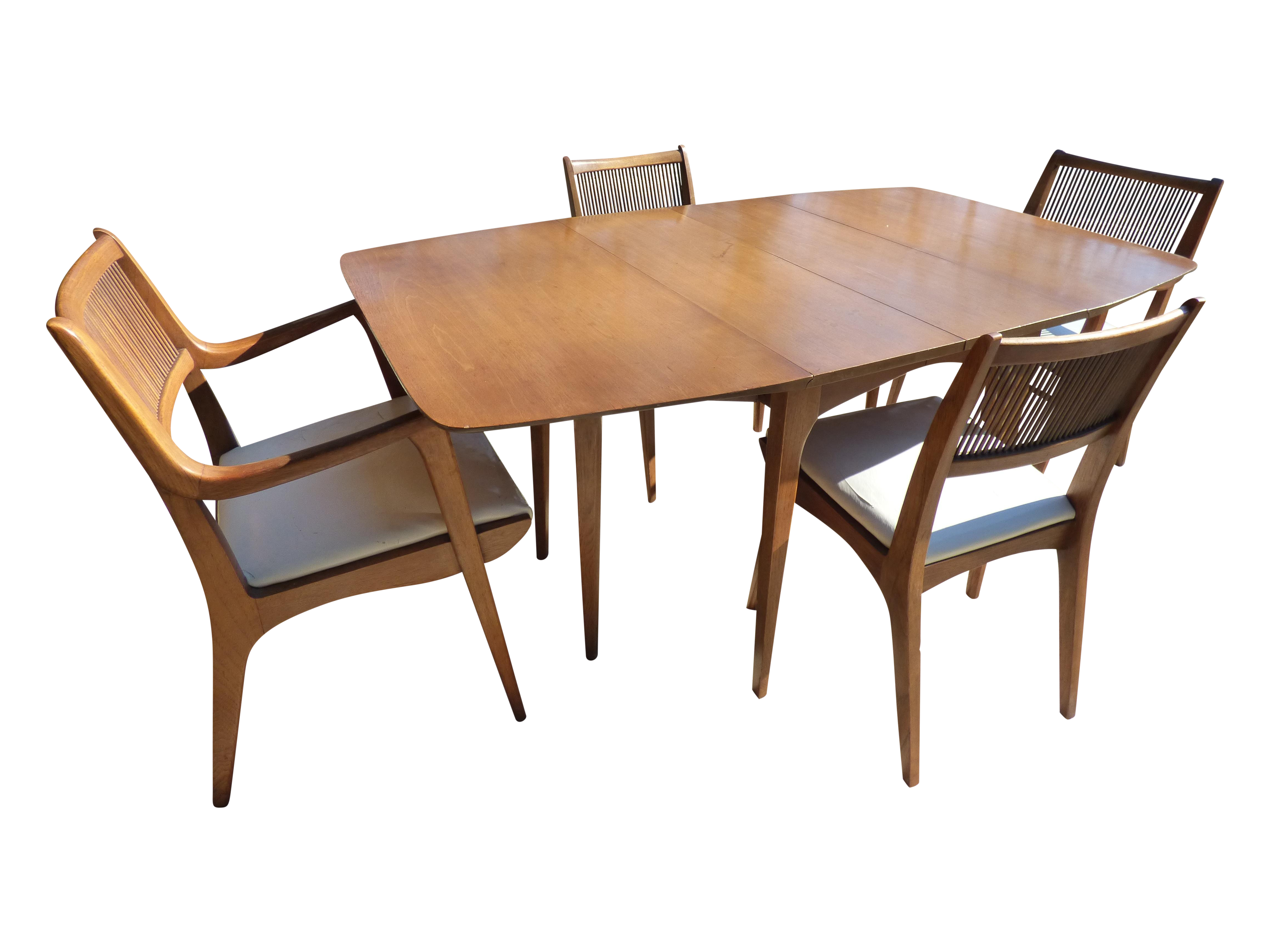 Mid Century Vintage Dining Table And Chairs From The Drexel Profile Series  By John Van Koert. One Owner Since The Late U002750s. Never Refinished    Supposedly ...