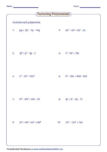 Factoring four terms   Algebra II   Pinterest   Algebra