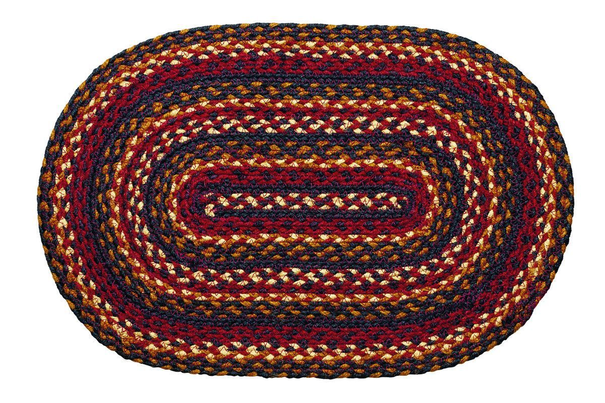 Blueberry Braided Placemat Set Of 2 Oval Braided Rugs