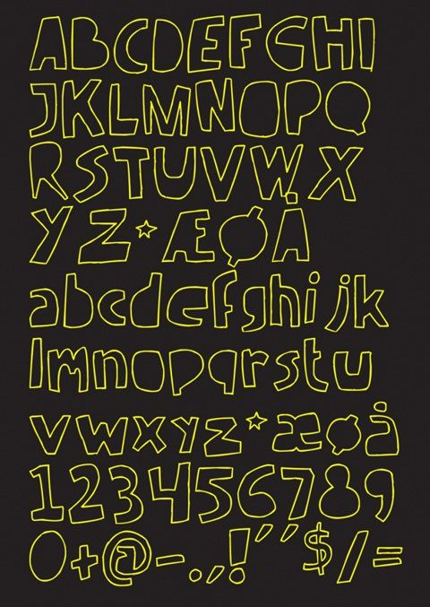 手書きで落書き風のかわいいフリーフォントhandmade Font