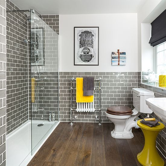 Bathroom Ideas To Make The Most Of Bright Colours Scandinavian - Grey and yellow bathroom ideas